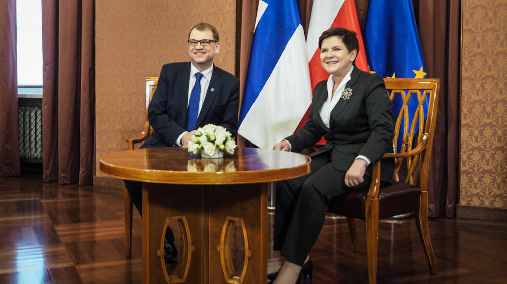 Prime Minister Sipilä in Warsaw for an official working visit and a Finland 100 event